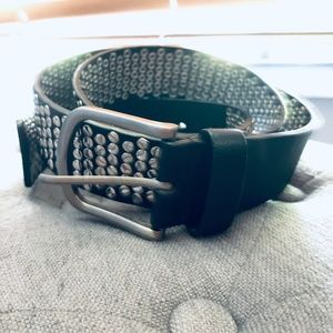 Accessories - Black and Silver Studded Belt Women's 47""
